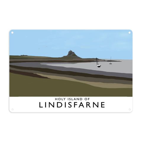The Holy Island of Lindisfarne Metal Sign