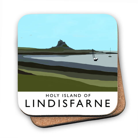 The Holy Island of Lindisfarne MDF Coaster