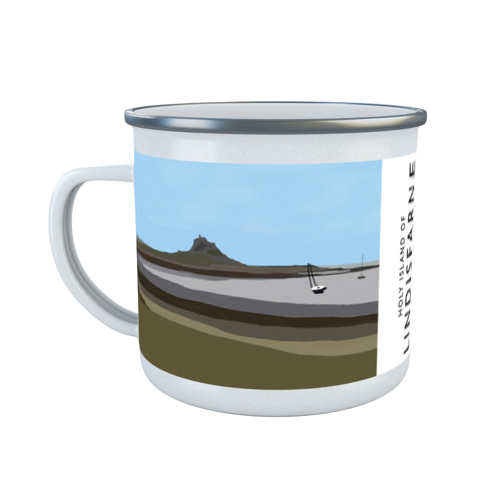 The Holy Island of Lindisfarne Enamel Mug