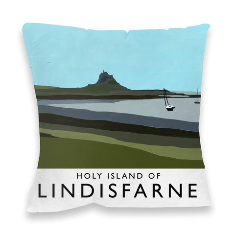 The Holy Island of Lindisfarne Fibre Filled Cushion