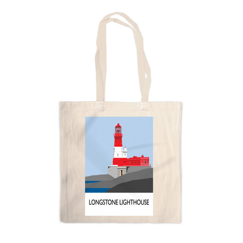 Longstone Lighthouse, Northumberland Canvas Tote Bag