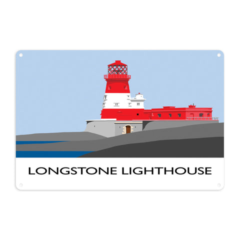 Longstone Lighthouse, Northumberland Metal Sign