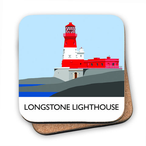 Longstone Lighthouse, Northumberland MDF Coaster