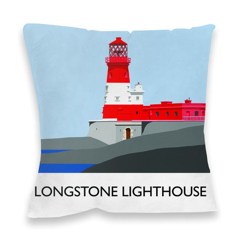 Longstone Lighthouse, Northumberland Fibre Filled Cushion