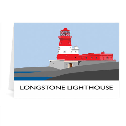 Longstone Lighthouse, Northumberland Greeting Card 7x5