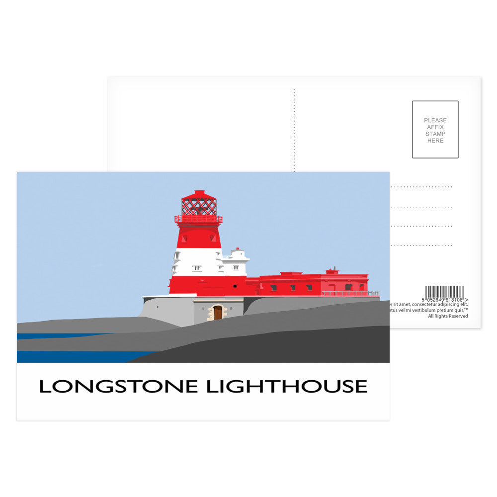 Longstone Lighthouse, Northumberland Postcard Pack