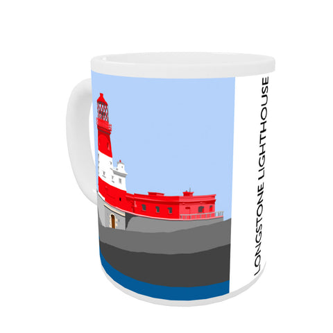Longstone Lighthouse, Northumberland Coloured Insert Mug