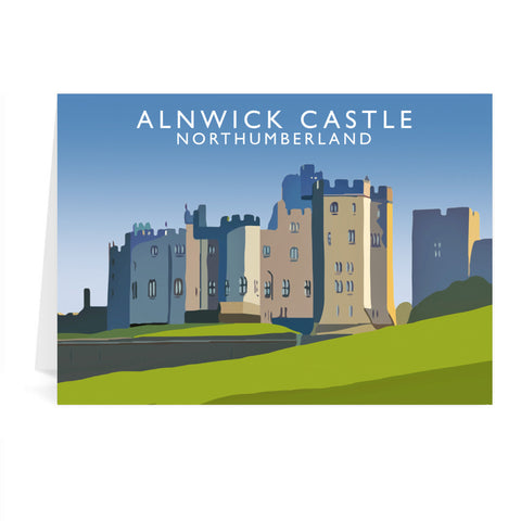 Alnwick Castle, Northumberland Greeting Card 7x5