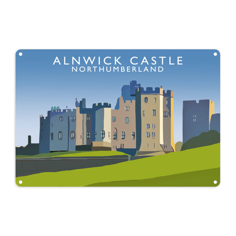 Alnwick Castle, Northumberland Metal Sign