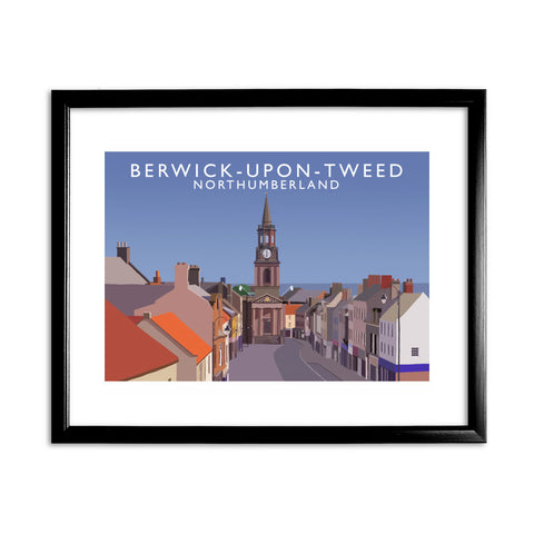 Berwick-Upon-Tweed, Northumberland 11x14 Framed Print (Black)