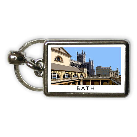 Bath Metal Keyring