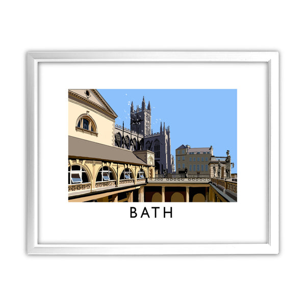 Bath 11x14 Framed Print (White)