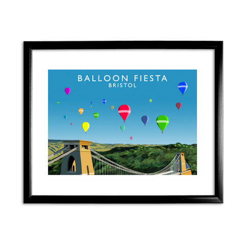 Balloon Fiesta, Bristol 11x14 Framed Print (Black)
