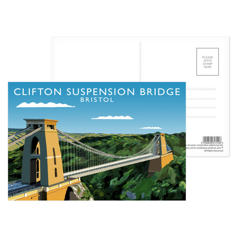 Clifton Suspension Bridge, Bristol Postcard Pack