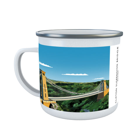 Clifton Suspension Bridge, Bristol Enamel Mug