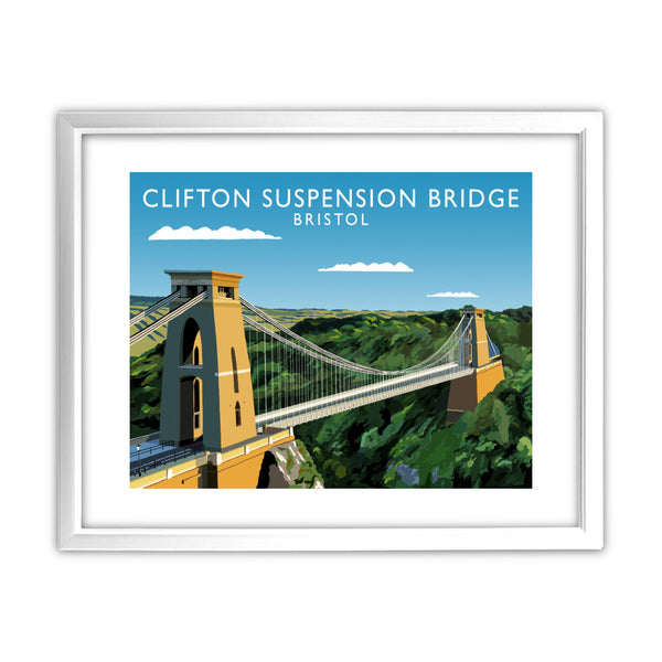 Clifton Suspension Bridge, Bristol 11x14 Framed Print (White)