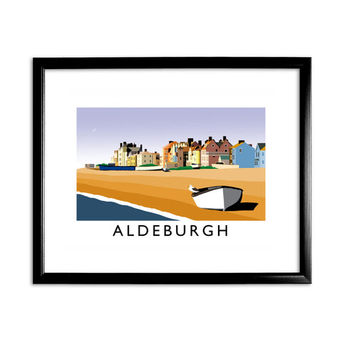 Aldeburgh, Suffolk 11x14 Framed Print (Black)