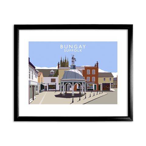Bungay, Suffolk 11x14 Framed Print (Black)