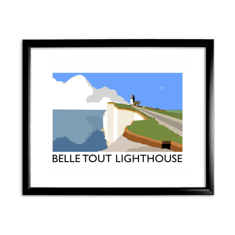 Belle Tout Lighthouse, Sussex 11x14 Framed Print (Black)