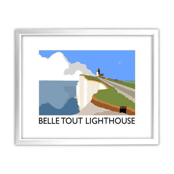 Belle Tout Lighthouse, Sussex 11x14 Framed Print (White)