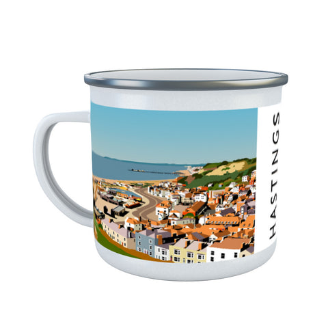 Hastings, Sussex Enamel Mug