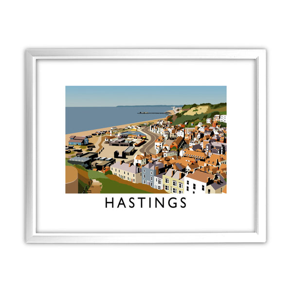 Hastings, Sussex 11x14 Framed Print (White)