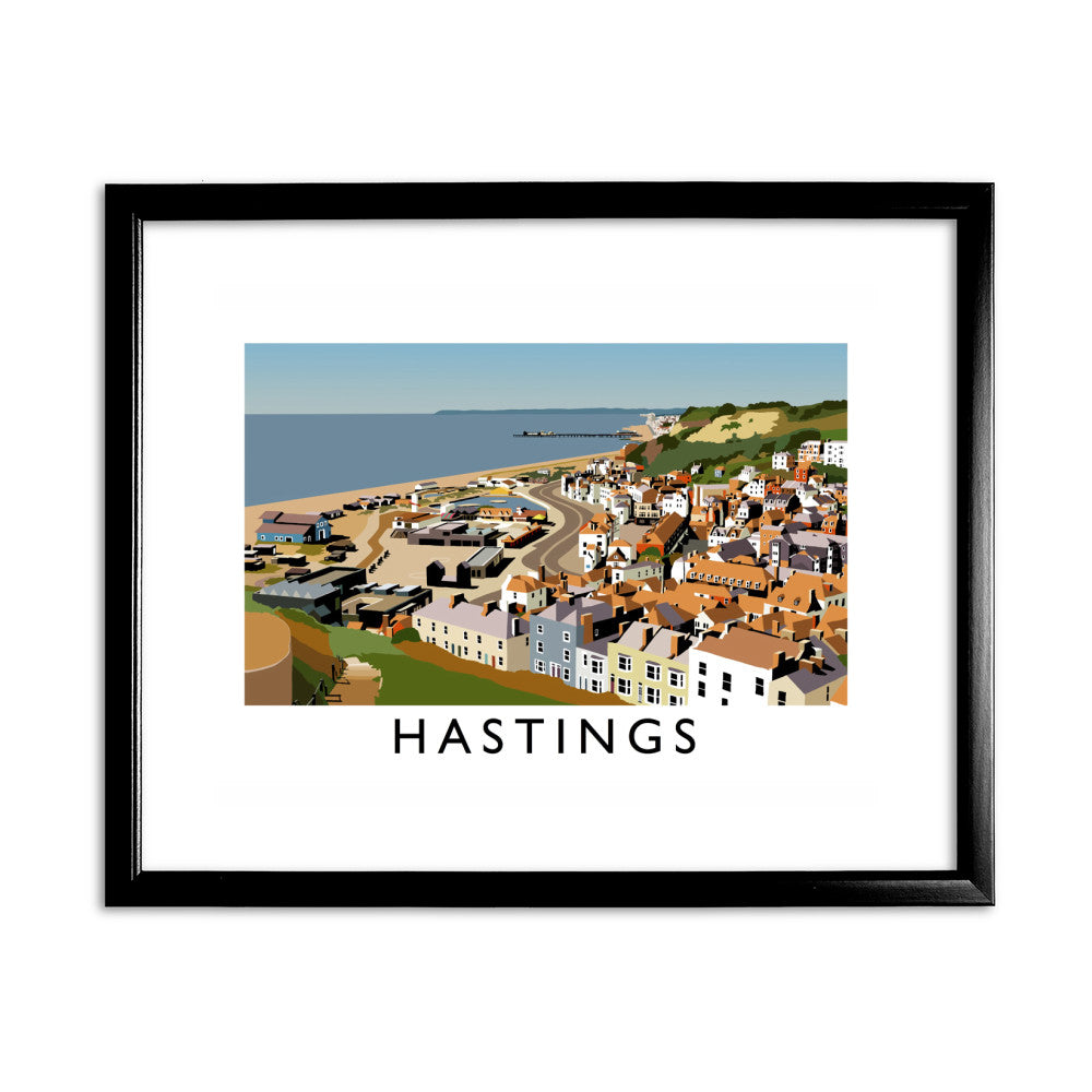 Hastings, Sussex 11x14 Framed Print (Black)