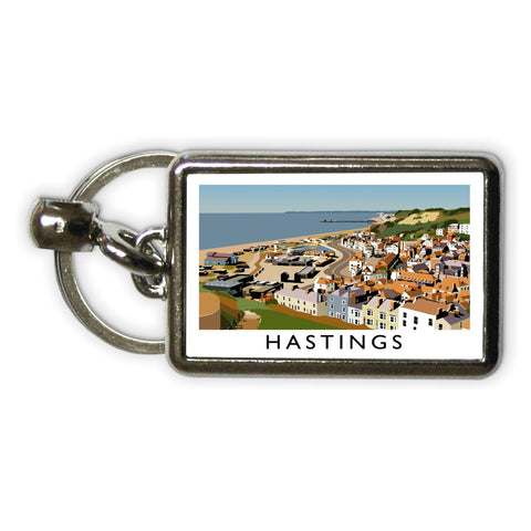 Hastings, Sussex Metal Keyring
