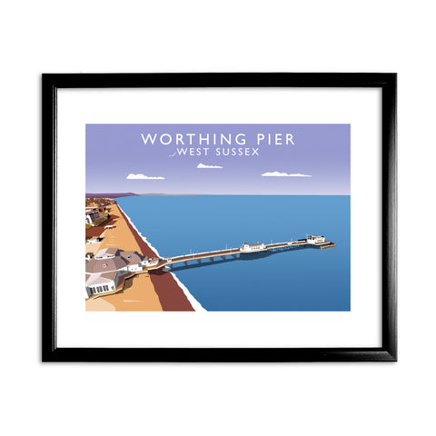 Worthing Pier, West Sussex 11x14 Framed Print (Black)