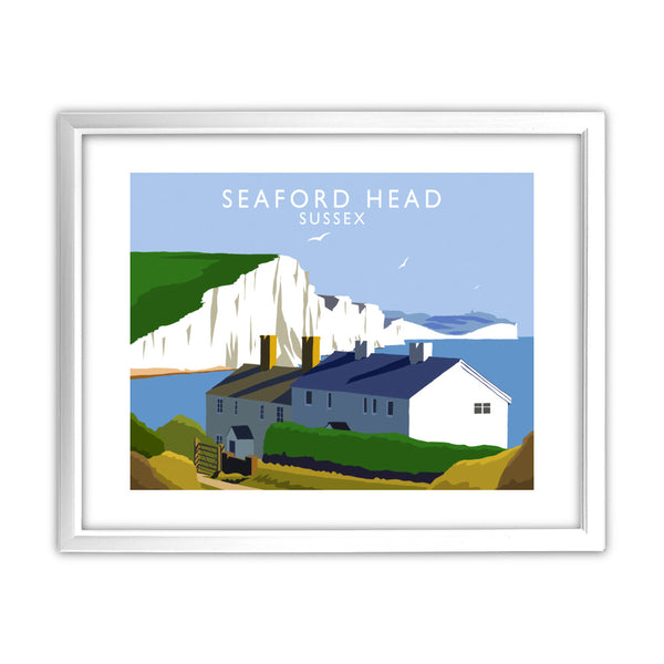 Seaford Head, Sussex 11x14 Framed Print (White)