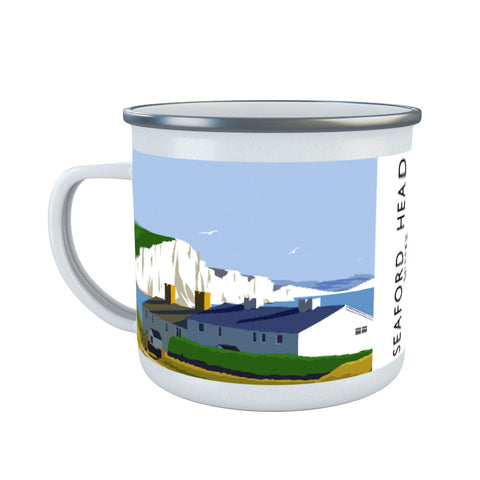 Seaford Head, Sussex Enamel Mug