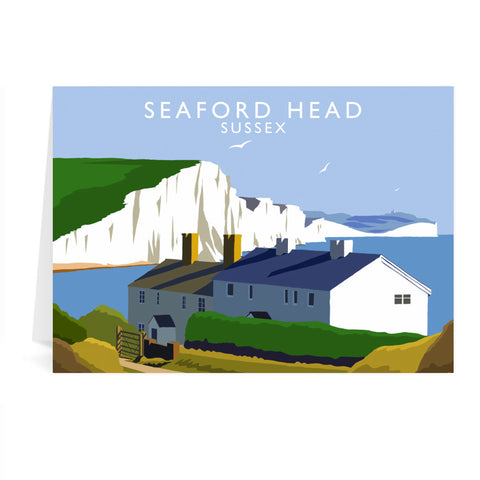 Seaford Head, Sussex Greeting Card 7x5