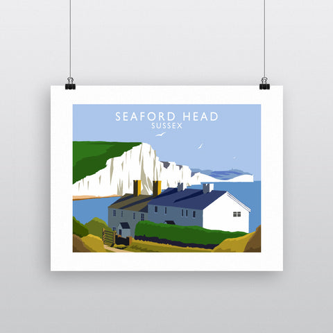 Seaford Head, Sussex 90x120cm Fine Art Print