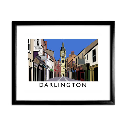 Darlington 11x14 Framed Print (Black)