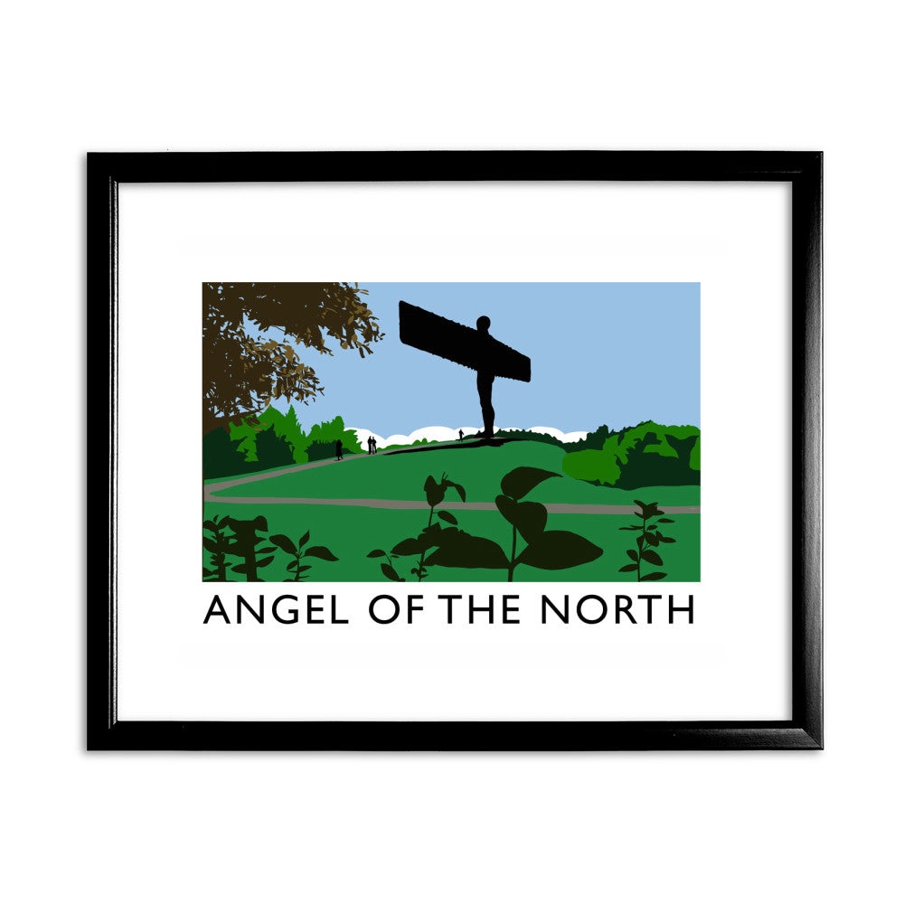 The Angel of the North, Gateshead 11x14 Framed Print (Black)
