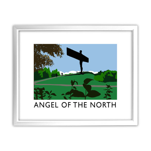 The Angel of the North, Gateshead 11x14 Framed Print (White)
