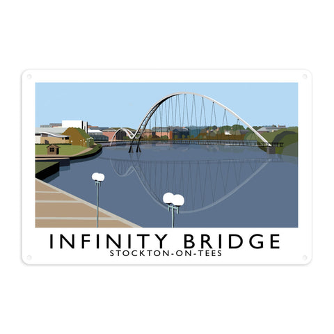 Infinity Bridge, Stockton on Tees Metal Sign