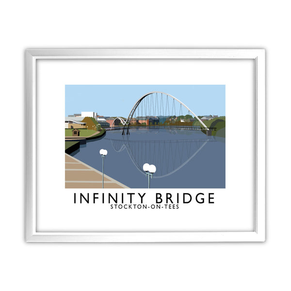 Infinity Bridge, Stockton on Tees 11x14 Framed Print (White)