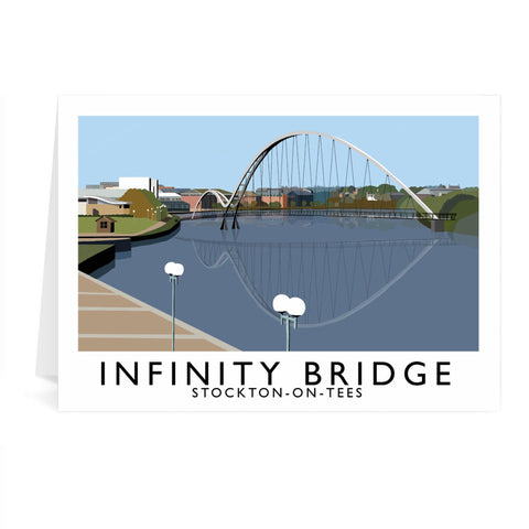 Infinity Bridge, Stockton on Tees Greeting Card 7x5