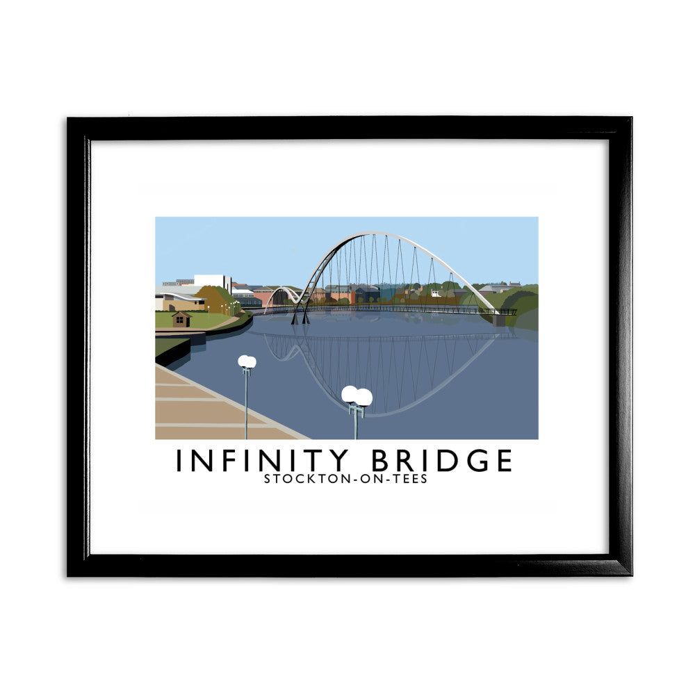 Infinity Bridge, Stockton on Tees 11x14 Framed Print (Black)
