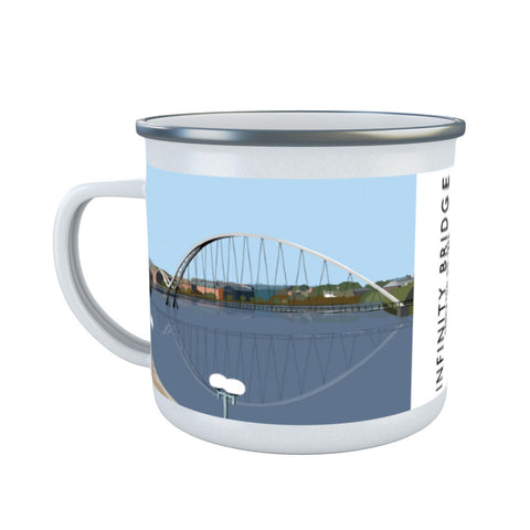 Infinity Bridge, Stockton on Tees Enamel Mug