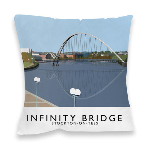 Infinity Bridge, Stockton on Tees Fibre Filled Cushion