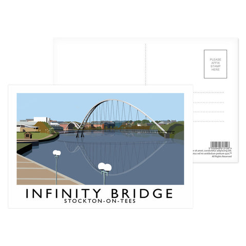 Infinity Bridge, Stockton on Tees Postcard Pack