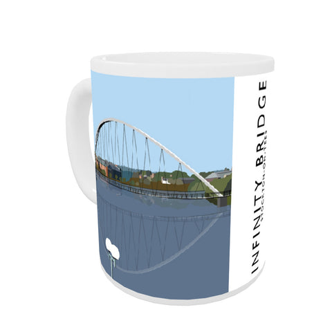 Infinity Bridge, Stockton on Tees Coloured Insert Mug