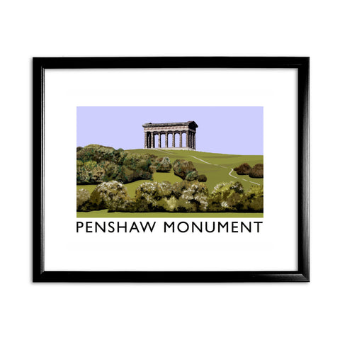 The Penshaw Monument 11x14 Framed Print (Black)