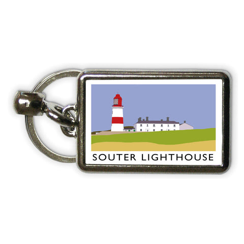 The Souter Lighthouse, Tyne and Wear Metal Keyring