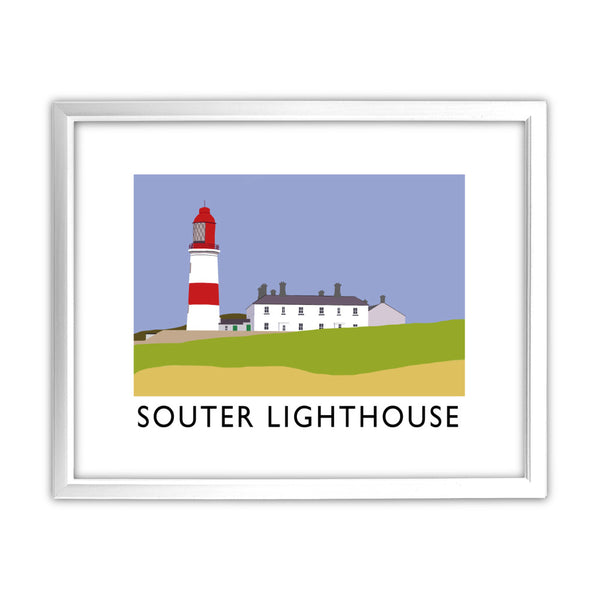 The Souter Lighthouse, Tyne and Wear 11x14 Framed Print (White)