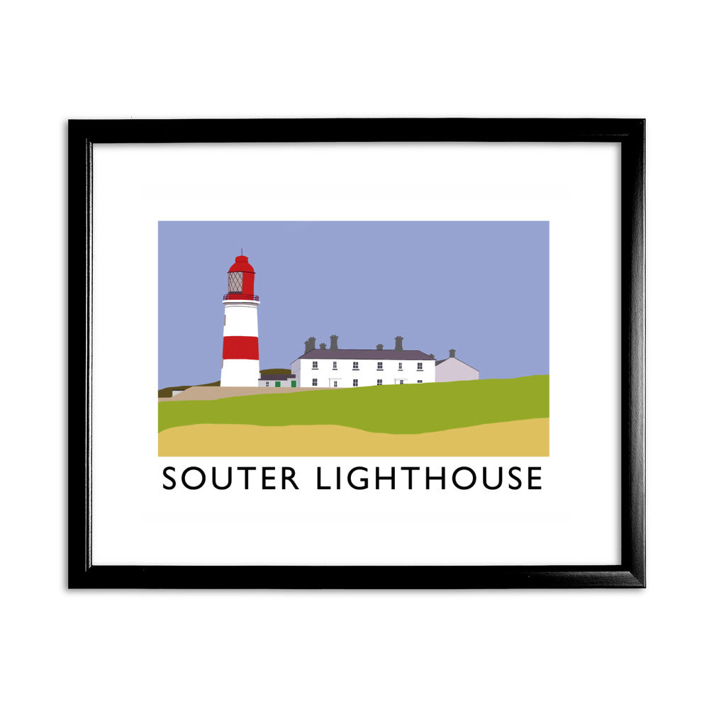 The Souter Lighthouse, Tyne and Wear 11x14 Framed Print (Black)