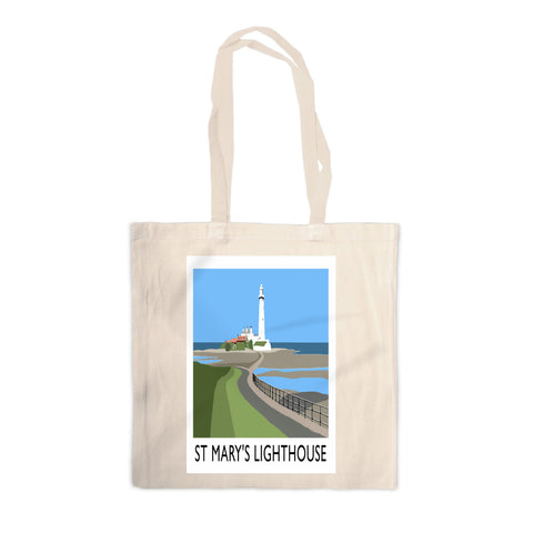 St Mary's Lighthouse, Whitley Bay Canvas Tote Bag