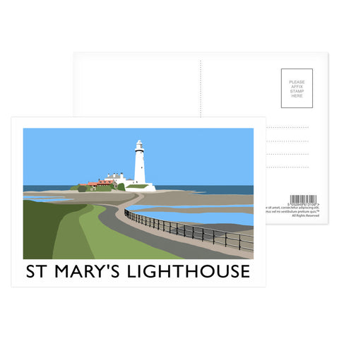 St Mary's Lighthouse, Whitley Bay Postcard Pack